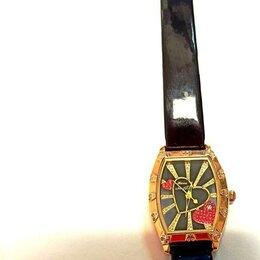 Наручные часы - Часы жен. на кож браслете с камнями, 585 (ео56974), 0