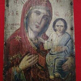Иконы - Старинная икона,Богородица Смоленская. дерево, 0