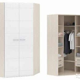 Шкафы, стенки, гарнитуры - Шкаф угловой симба 2-х створчатый (дуб белфорт/белый глянец), 0