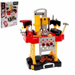 Детские наборы инструментов - Игровой модуль «Мастерская» 3 в 1, 56 элементов, 0