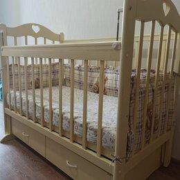 Кроватки - Детская кроватка с поперечным маятником, 0