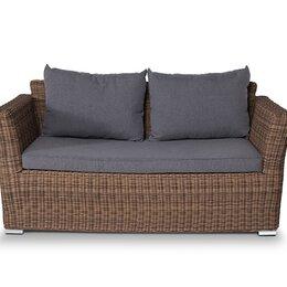 Диваны - Двухместный диван из ротанга Капучино (коричневый), 0