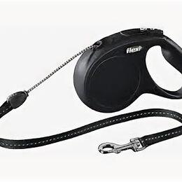 Поводки  - FLEXI рулетка NEW CLASSIC М (до 20 кг) 5 м трос черная , 0