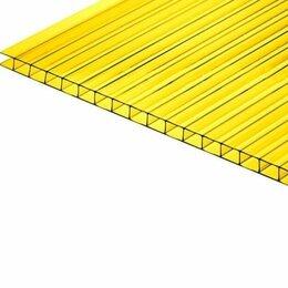 Поликарбонат - Поликарбонат сотовый 10мм*2,1м*6м желтый, 0