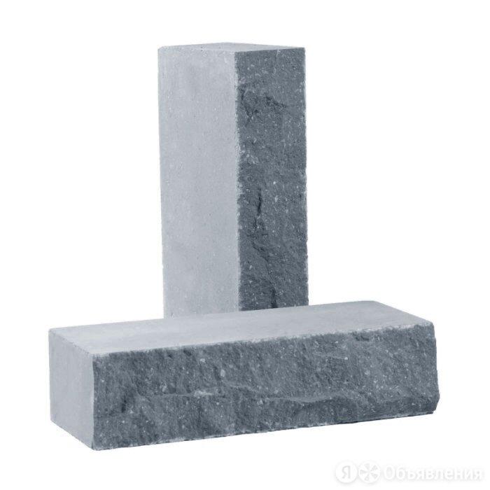 Кирпич лицевой силикатный «Серый» полнотелый одинарный колотый по цене 19₽ - Кирпич, фото 0
