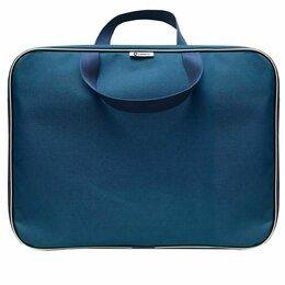 Портфели - Портфель 1 отд. А4 Lamark, с ручками,  34*26*7  синяя, на молнии, 0