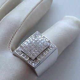 Кольца и перстни - перстень квадрат, белое золото 585 проба, 0