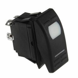 Электроустановочные изделия - Переключатель двухпозиционный ON-OFF 12В/16А 3Р с подсветкой, 0