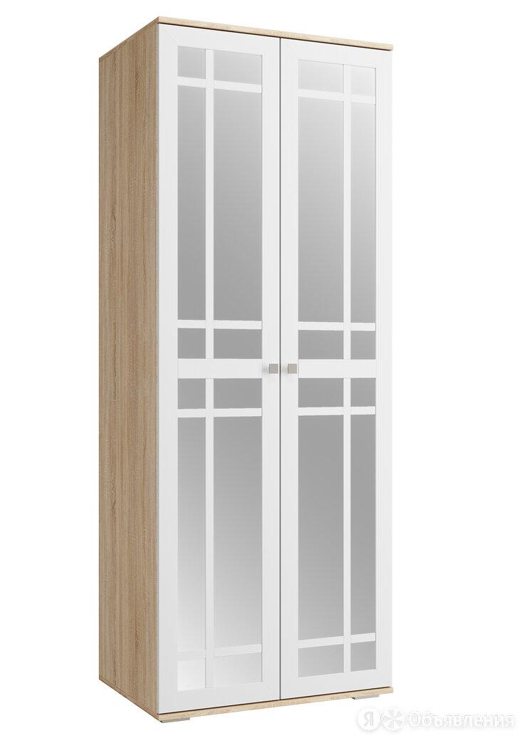 "Шкаф ШР-2 ""Ривьера белая"" фасад зеркало по цене 14570₽ - Шкафы, стенки, гарнитуры, фото 0"