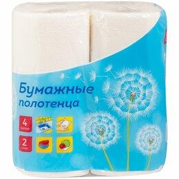 Полотенца - Полотенца бумаж. 2-х слойн. OfficeClean, (4шт/уп*11.6м) тиснение, белые, 0