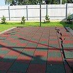 Тротуарная плитка, бордюр - Резиновое покрытие, 0
