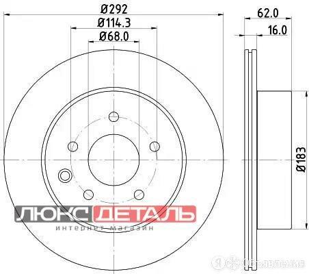 MINTEX MDC1786 Заменено на xmi-MDC1786C Диск тормозной задн. DUALIS J10  JJ10... по цене 2071₽ - Тормозная система , фото 0