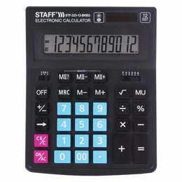 Калькуляторы - Настольный калькулятор Staff PLUS STF-333-BKBU, 0