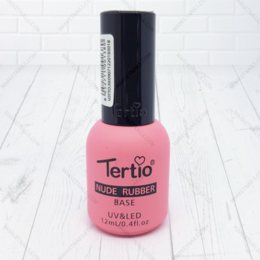 Средства для интимной гигиены - Tertio, Каучуковая база камуфляж Tertio Nude Rubber Base 001 UV/LED 12 мл, 0