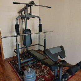 Другие тренажеры для силовых тренировок - Силовой центр Torneo Power Pro, гриф и блины, 0
