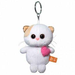 Брелоки и ключницы - Басик и Ко Мягкая игрушка-брелок «Кошечка Ли Ли брелок с розовым сердцем», 12 см, 0