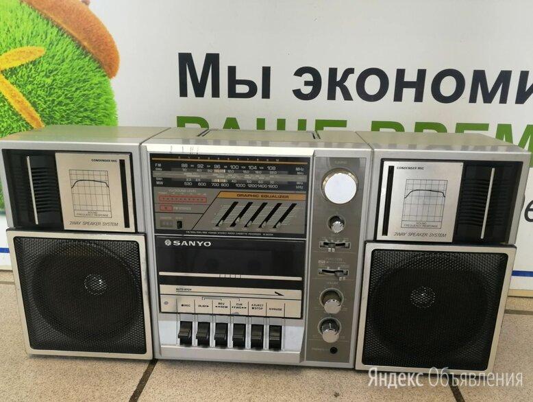 SANYO M 9835 Радио Кассетный проигрыватель. Стерео динамики по цене 4000₽ - Музыкальные центры,  магнитофоны, магнитолы, фото 0
