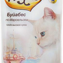 Аквариумные рыбки - Мнямс паучи для кошек Буйабес по-Марсельски (рыба с морепродуктами) 85 г , 0