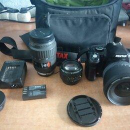 Пленочные фотоаппараты - Фотоаппарат Pentax K-r + набор объективов, 0