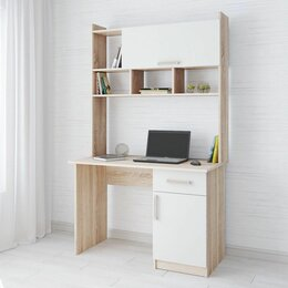 Компьютерные и письменные столы - Стол компьютерный Квартет-10💥 белый 💥 0749💥, 0