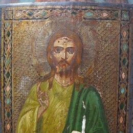 Иконы - икона Иисус христос вседержитель икона, 19 век, 0