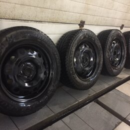 Шины, диски и комплектующие - Комплект штампованных зимних колёс   185 65 r15, 0