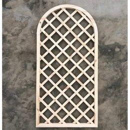 Заборчики, сетки и бордюрные ленты - Решетка садовая накладная с арками 800*1600мм, ячейка 100мм, 0