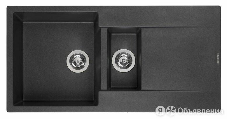 "Reginox Мойка Amsterdam 15 Black Silvery 3,5"" (R30967) по цене 31160₽ - Кухонные мойки, фото 0"