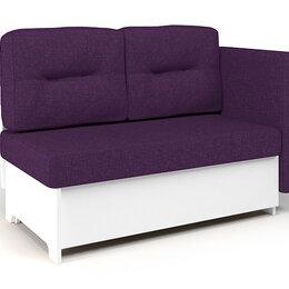 Диваны и кушетки - Кушетка Шарм-Дизайн Гамма 120 рогожка фиолетовый ЛДСП белый, 0
