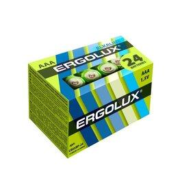 Батарейки - Элемент питания алкалиновый LR03 Alkaline BP-24 (уп.24шт) NEW Ergolux 14213, 0