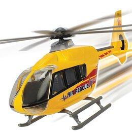 Вертолеты - Вертолет EC 135 die-cast с крутящимися лопастями 21см Dickie Toys 3714006, 0