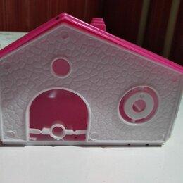 Лежаки, домики, спальные места - Пластмассовый розовый домик для хомяка, 0