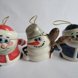Новогодние фигурки и сувениры - Новогодние игрушки авторская керамика Вербилки, 0