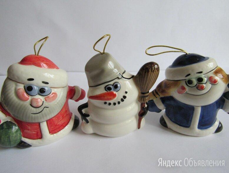 Новогодние игрушки авторская керамика Вербилки по цене 1800₽ - Новогодние фигурки и сувениры, фото 0