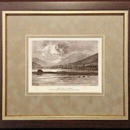 Гравюры, литографии, карты - Гравюра 1881 года. Вид Петропавловска-Камчатского R1483, 0