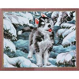 Собаки - Щенок хаски в зимнем лесу Артикул : CK 643, 0