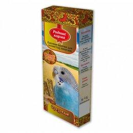 Корма - РОДНЫЕ КОРМА Зерновая палочка для попугаев 45г х 2шт. с орехами , 0