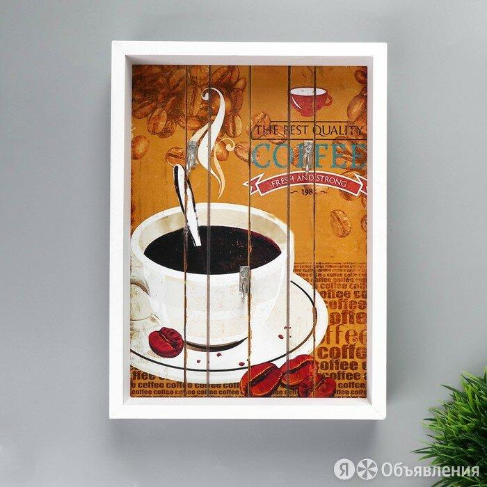 Крючки декоративные дерево 'Аромат кофе' 25х18х4 см по цене 450₽ - Уголки, кронштейны, держатели, фото 0
