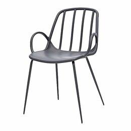 Стулья, табуретки - Кресло пластиковое серое RATTAN 313, 0