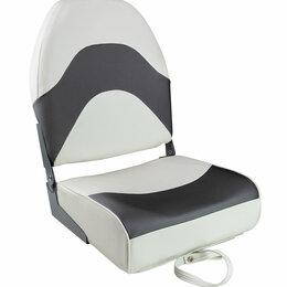 Походная мебель - Кресло складное мягкое PREMIUM WAVE, цвет белый/черный, 0