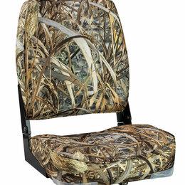 Плетеная мебель - Кресло мягкое складное Economy высокая спинка, цвет камуфляж камыш, Marine Ro..., 0