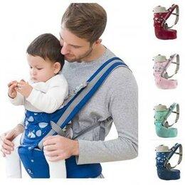 Рюкзаки и сумки-кенгуру - Эргорюкзак хипсит Aiebao 3-36 месяцев, бордовый, 0