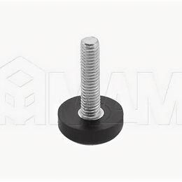 Комплектующие - SuperGlide Ножка мебельная круглая D22мм, M6x25 мм: HR-T2206-25, 0