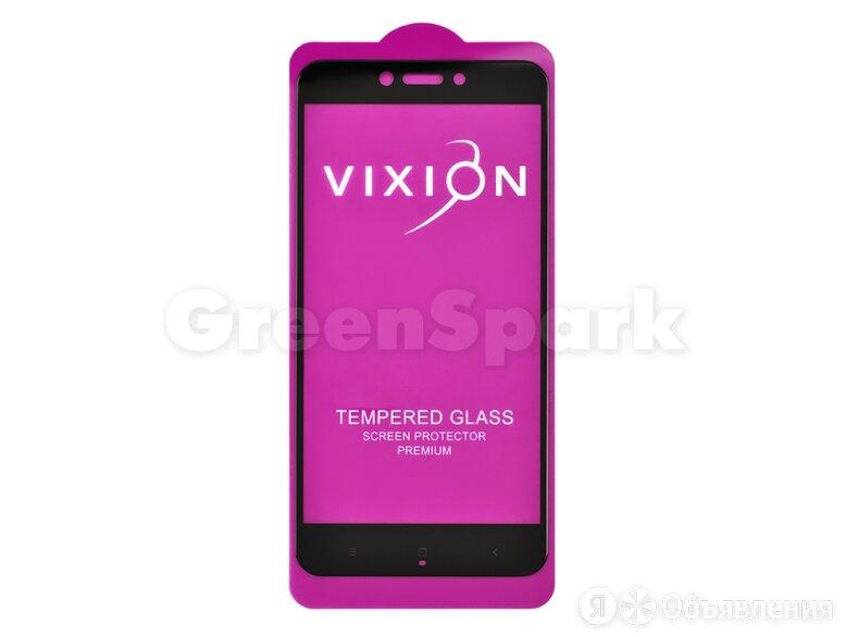 Защитное стекло 6D для Xiaomi Redmi 4X (черный) (VIXION) по цене 150₽ - Защитные пленки и стекла, фото 0