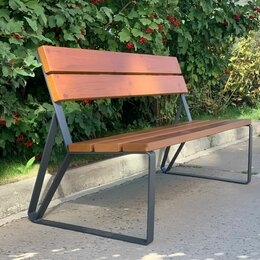 Скамейки - Скамейка садово-парковая с удобной спинкой «Park» 1440, термососна, 0