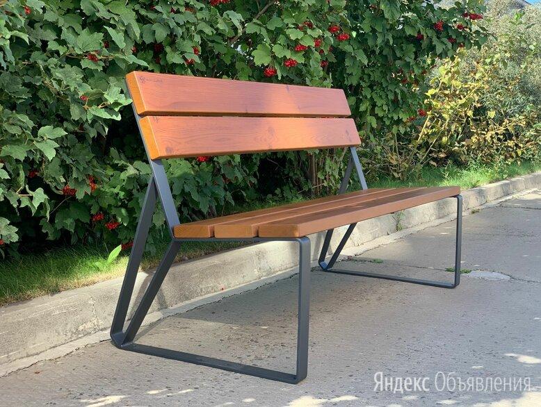 Скамейка садово-парковая с удобной спинкой «Park» 1440, термососна по цене 14950₽ - Скамейки, фото 0