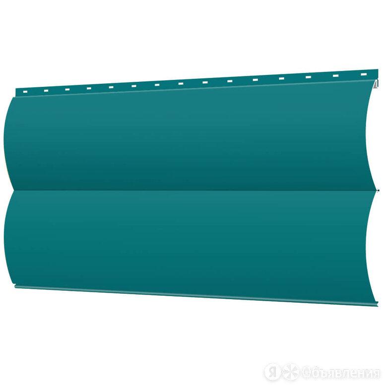 Сайдинг металлический Блок-Хаус под бревно RAL5021 Морская Волна по цене 303₽ - Сайдинг, фото 0