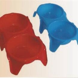 Контейнеры и ланч-боксы - Подставка с мисками пластиковая №D (2х0,6л) , 0