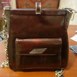 Сумки - Кожаная сумка винтажная , 0