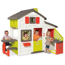 Игровые домики и палатки - Домик для друзей Smoby с кухней 810202, 0